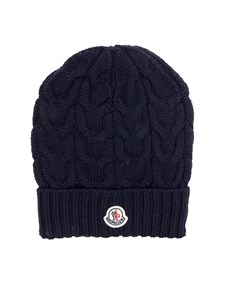 Moncler Jr - Blue tricot knitting cap