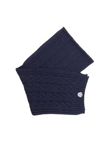 Moncler Jr - Blue tricot knitting scarf