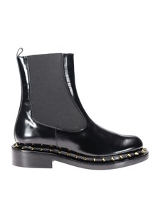 Paloma Barceló - Brushed leather ankle boots in black
