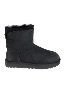 "UGG Australia - Black ""Mini Bailey Bow II"" ankle Boots"