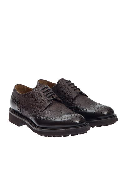Black hammered leather loafers Doucal's P3lIuMU7