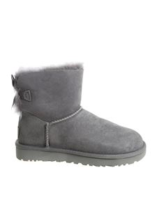 "UGG Australia - Grey ""Mini Bailey Bow II"" ankle Boots"