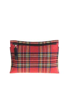 Loewe - Leather and fabric clutch