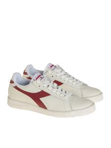 Diadora - Sneaker Game L Low Waxed bianca e bordeaux