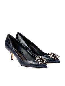 Dolce & Gabbana - Reptile effect leather pumps