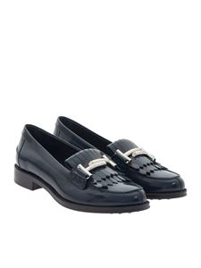Tod's - Brushed leather moccasins