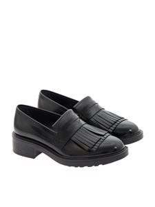 Hogan - Brushed leather loafers