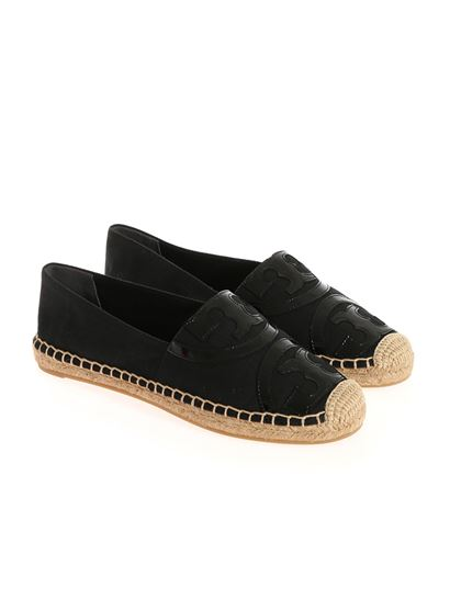 Fabric espadrilles Color: black Logo insert on the front Raffia and rubber  sole - Tory