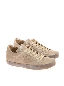Philippe Model - Paris champagne leather sneakers