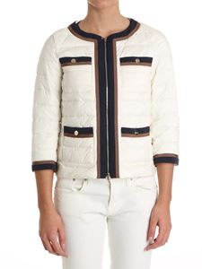 Herno - Cream color jacket with front pockets