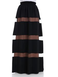 N° 21 - Skirt with tulle inserts