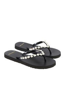 Tory Burch - Beaded flip-flops