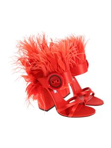 Prada - Sandals with feathers
