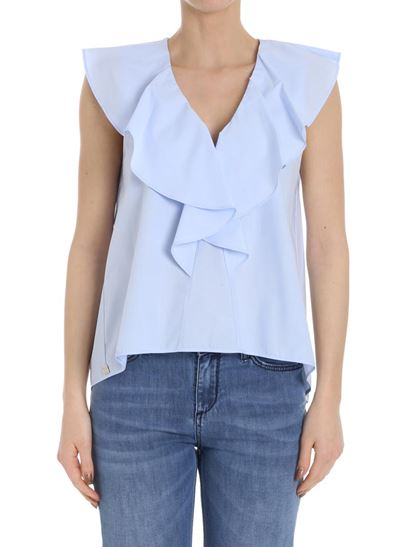 Clearance Online Free Shipping Pictures Ruffled blouse Manila Grace wHH7N2Qs5u
