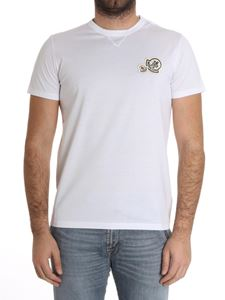 Moncler - White T-shirt with logo on the chest