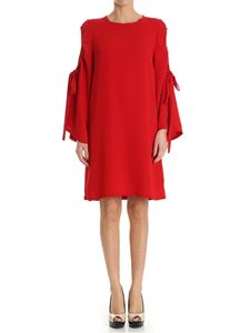 Parosh - Dress with drawstring on the sleeves