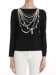 Moschino Boutique - Pearls print top