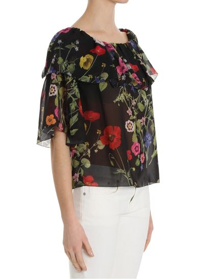 Floral pattern top Blugirl Latest Collections Cheap Online Top Quality Cheap Great Deals Cheap Sale Professional In China For Sale T1fqsHj