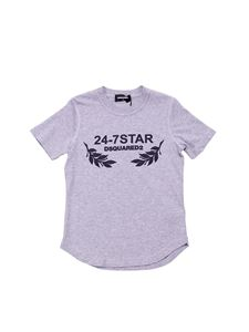 Dsquared2 - Heather grey T-shirt with 24-7 Star print