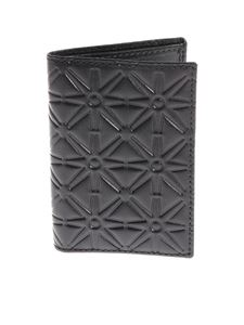 Comme Des Garçons - Black embossed leather card holder