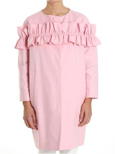 Moschino Boutique - Overcoat with ruffles