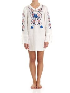 Tory Burch - Ivory embroiered short dress