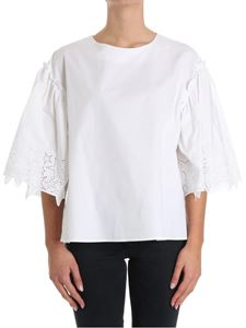 Parosh - Top with pierced sleeves