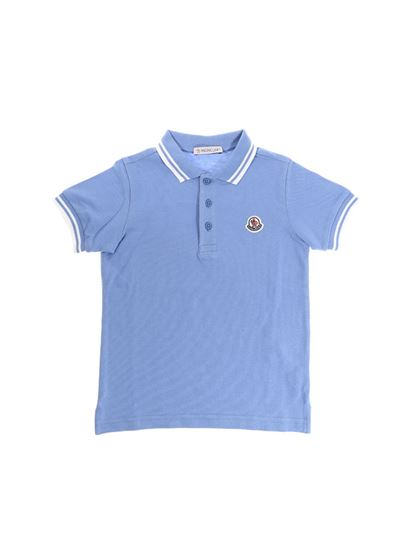 Moncler Jr - Light-blue polo
