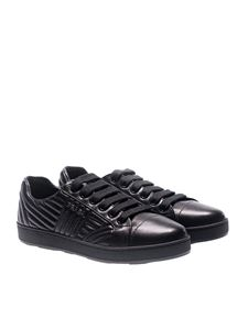Prada - Black quilted leather sneakers