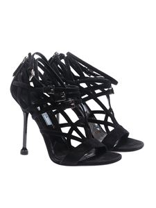 Prada - Black woven sandals with straps
