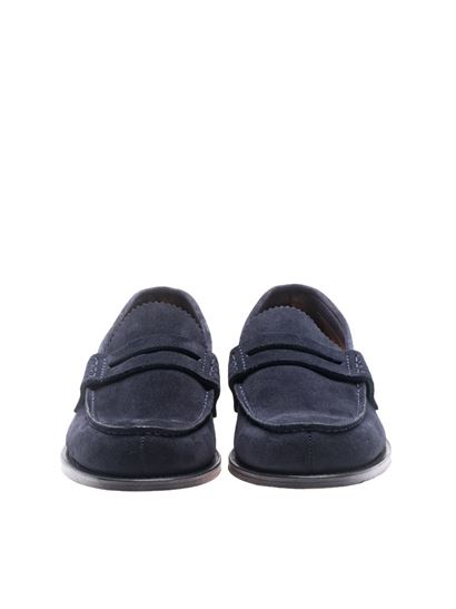 Church's - Blue suede Pembrey loafers