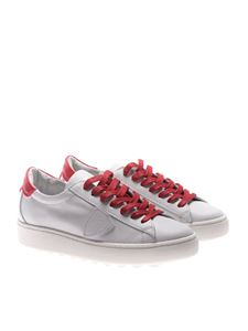 Philippe Model - Madeleine white and red sneakers