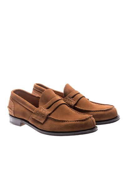Church's - Brown suede Pembrey loafers