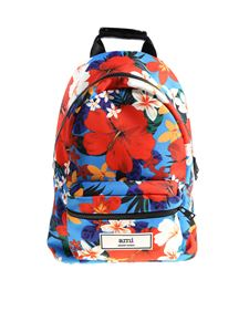 Ami Alexandre Mattiussi - Hawaiian pattern backpack
