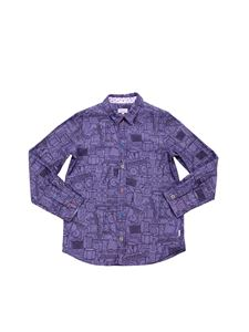 Paul Smith - Printed shirt with multicolor buttons