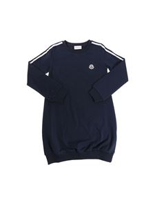 Moncler Jr - Blue dress with logo
