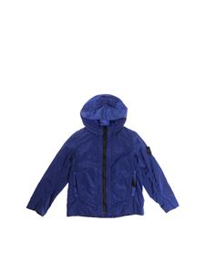 Stone Island Junior - Blue hooded jacket