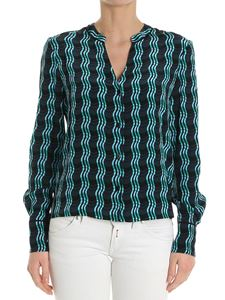 Diane von Fürstenberg - Black wave patterned shirt