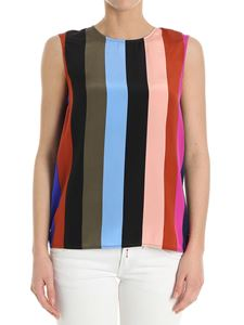 Diane von Fürstenberg - Striped pattern silk top