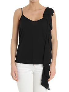Dondup - Black top with ruffles