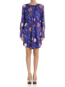 Diane von Fürstenberg - Blue floral print silk dress