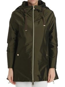 Herno - Green hooded overcoat