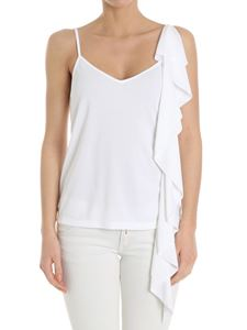 Dondup - White top with ruffles