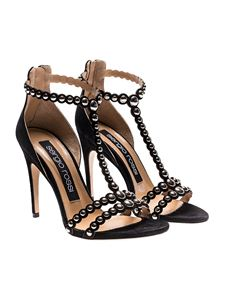 Sergio Rossi - Black suede sandals with studs