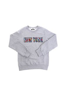 MSGM - Gray New York sweatshirt