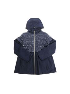 Herno - Blue padded hooded jacket