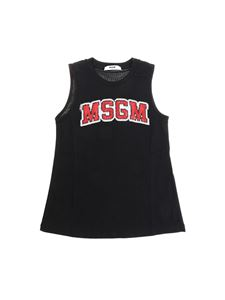 MSGM - Black top with sequin logo