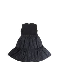 Moncler Jr - Black dress with knitted top