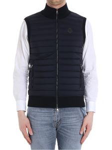 Moncler - Blue cotton and down waistcoat