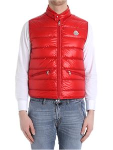 Moncler - Red Gui down jacket with logo detail